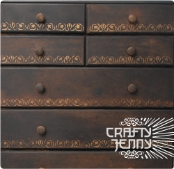How to paint an MDF chest of drawers for a decorative antique look