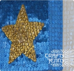 How to make artwork using sequins