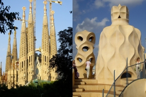 Barcelona architecture by Antonio Gaudi