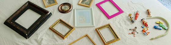 Kids wall decor toys in frames
