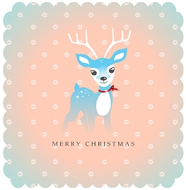 Free Reindeer Christmas Card Printable
